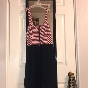 Red White and Blue dress with zipped front